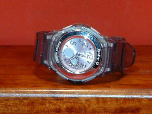 Pre-Owned-Women-s-Clear-Casio-BGA-100-Baby-G-Watch-Parts-Only