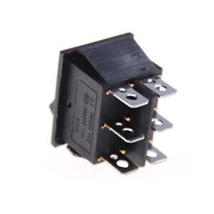2x KCD4 Rocker Switch Black DPDT ON/OFF/ON 6 PIN 16A/250VAC 20A/125VAC Pop 747710591151