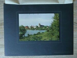 Brandenburg-1918-19-Lychen-Uckermark-Ortsansicht-Haeuser-Architektur-27x36cm