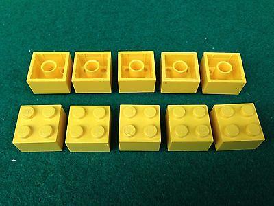 ROSSO ROT RED 2x2 LEGO 3003 10 Mattoncini Brick Basic Steine