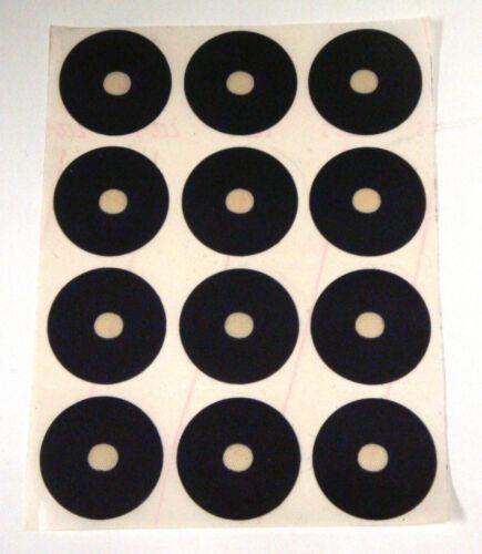 "24 Billiard Pool Table Stick on Black Spots Regulation 1-3/8"" Diameter FreeShip"