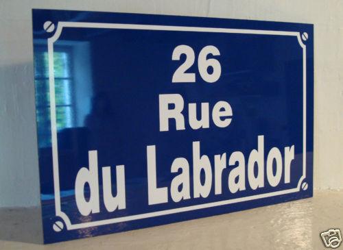 PLAQUE de Rue TINTIN 26 rue du labrador ( adresse de tintin ) création COLLECTOR