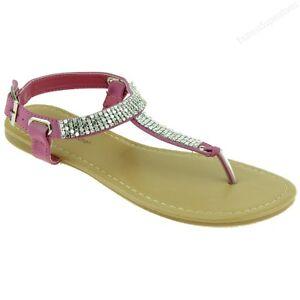 34c1b540d Details about New Women Sandal Flats Rhinestone Style Gladiator Fashion  Thongs Bling Sandals