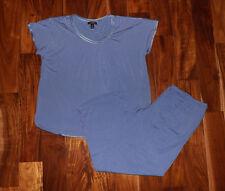 NWT Womens CAROLE HOCHMAN Blue Pajamas Sleepwear Set Size XXL 2XL