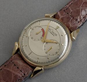 Jaeger-LeCoultre-10K-Gold-gefuellt-Futurematic-Auto-Stossstange-Watch-1950