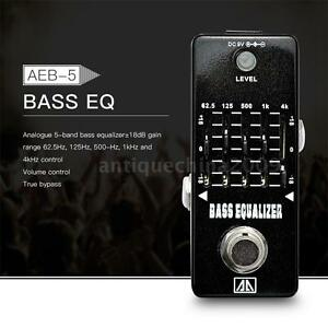 aroma 5 band graphic eq bass guitar equalizer effect pedal true bypass us w0w3 ebay. Black Bedroom Furniture Sets. Home Design Ideas