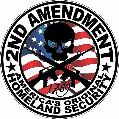 2nd Amendment Americas Original Homeland Security Car Decal Window Sticker