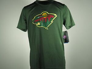 best service 54a8e 91f14 Details about NEW Minnesota Wild Official NHL Youth Athletic 100% Polyester  T-shirt