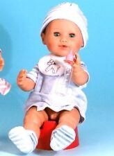 Schildkröt Puppenkleidung, für 40 cm Brüderchen, Babyanzug mit Streifenmütze