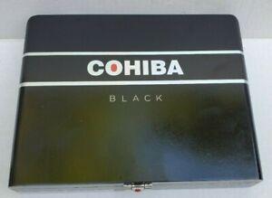 Cohiba-Black-Wood-Hinged-8-Robusto-Cigar-EMPTY-RED-DOT-Box