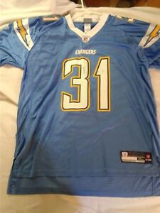 Details about San Diego Chargers Antonio Cromartie NFL Authentic Football Jersey Blue #31, XL