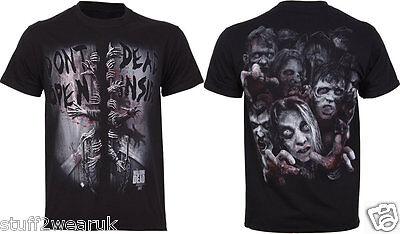 Official The Walking Dead Don't Open Dead Inside T Shirt Black S  M L XL XXL NEW