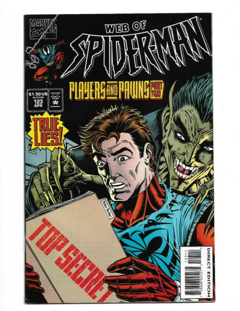 Web Of Spider-Man 123 Players And Pawns Part 2 Clone Saga Marvel 1995 VF