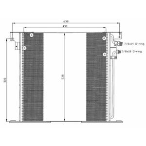 Kondensator Klimaanlage NRF 35305