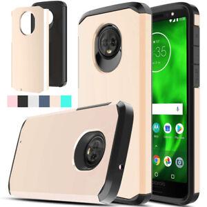 Hybride-Antichoc-Armure-Case-Dual-proection-couvercle-en-caoutchouc-pour-Motorola-Moto-G6