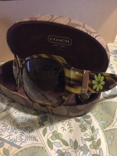 womens coach sunglasses with flower decor retro lo