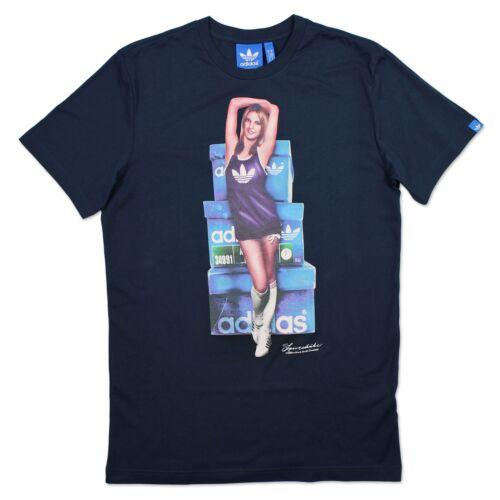 Pinup Hommes Graphique T Rétro Vintage Originals Adidas Blue Loisirs shirt ymN80vnPwO