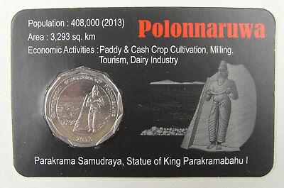 Sri Lanka Commemorative Coin 10 Rupees UNC 2013 Polonnaruwa