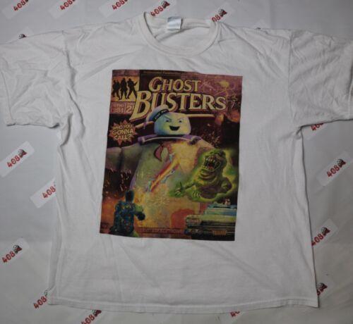 Vintage Ghostbusters Shirt Men's XL White Gildan A