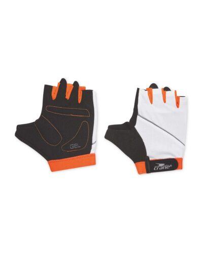 NEW Crane White Orange Cycling Gloves with Gel Padded Palms Size XLARGE