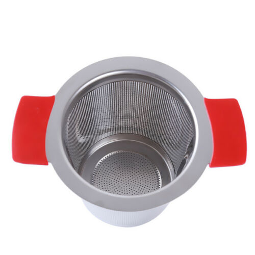 Tea Mesh Infuser Strainer Stainless Steel Filter Spice Loose Leaf Squeeze IT