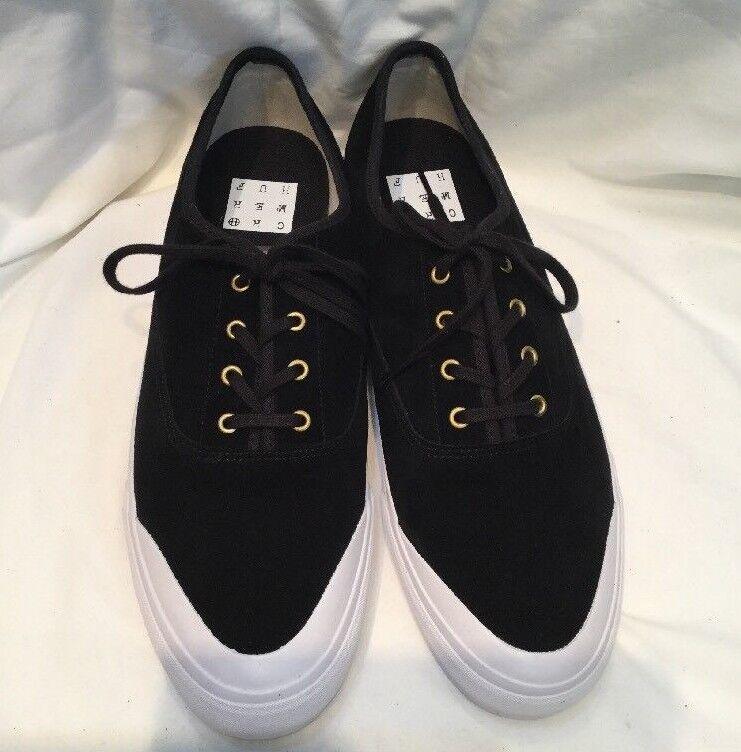 Genuine Mens Huf Cromer Black Velor & White Suede Skate Shoes UK Size 7 BNIB