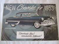1953 Chevrolet Car Sales Catalog Color Must Have Item