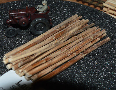 Ladegut Holz Spur N 20 Stück Stämme Naturholz ca 75 mm lang Ø 1,00-4,00 mm