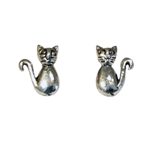 925 Solid Silver Tiny Dog Or Cat Studs