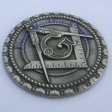 "New 3D..Masonic Master Mason Cut out Car, Multipurpose 3"" antique Silver emblem:"