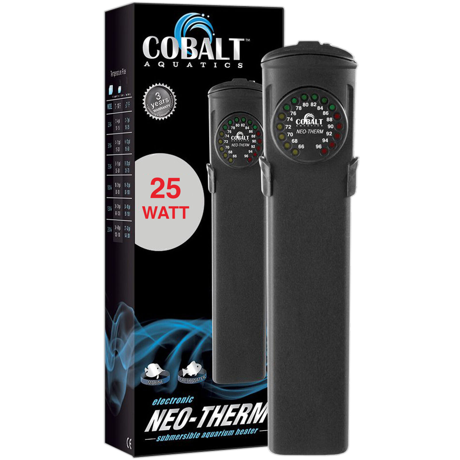 economico in alta qualità Cobalt Neo Therm Therm Therm 25 Watt Aquarium Heater LED Display Fast Free USA Shipping  vendendo bene in tutto il mondo