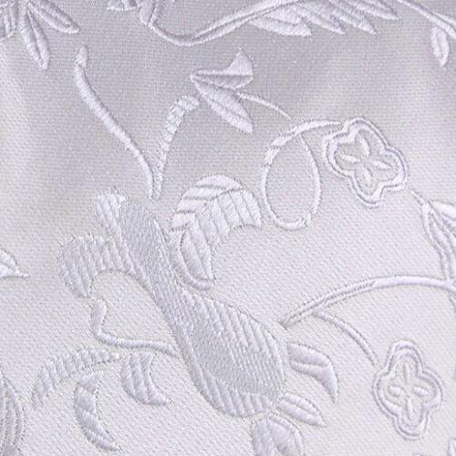 DQT Tissé Floral Argent Homme Mariage Gilet /& Cravate Set S-5XL