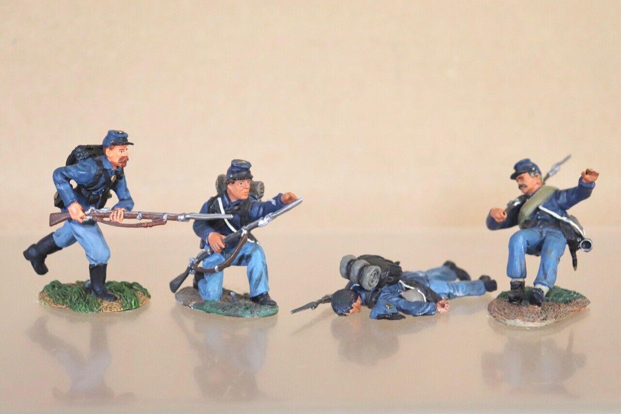 Conte Amerikanische Zivil Krieg 4 X Union Irisch Brigade Soldaten Angriff auf &