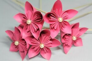 10-Origami-Kusudama-Flowers-in-Pink-Paper-Wedding-Bouquet-Flower