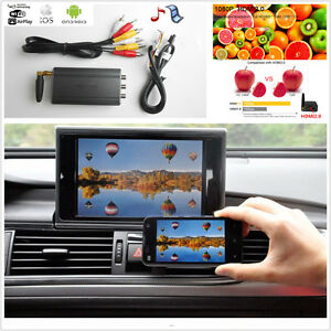 Details about 12V Home Car Android IOS TV WiFi Mirror Link Adapter  Smartphone Screen Video Kit
