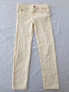 73da040f1 Hello Kitty by Sanrio Stretch Jeans Pants Vanilla Creme w/Pink Girls ...