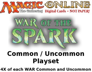 Details about MTGO Magic Online WAR War of the Spark Playset 784 Cards 4x  Common/Uncommon