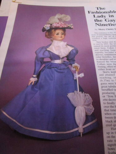 """17/"""" Gay Nineties Gibson Doll Dress Pattern 1890/'s Style// Merry Christy Lane"""