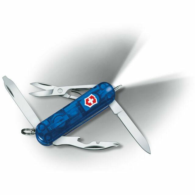 Victorinox Swiss Army MIDNITE MANAGER ZAFIRO cuchillo con pluma y luz LED 53757