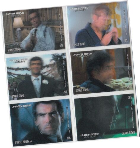 """6 Card /""""Motion//Lenticular/"""" Chase Set JB1-JB6-2008 Details about  /James Bond In Motion"""