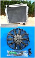 Aluminum Radiator For Toyota Landcruiser Fj40 Fj45 + 16 Inch Fan Manual 70-80
