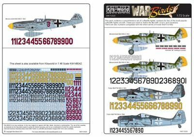 Kits-World 1//72 Luftwaffe Fighter Numbers for Bf109F//G//K and Fw1
