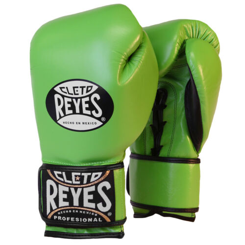 Citrus Green Cleto Reyes Lace Up Hook and Loop Hybrid Boxing Gloves