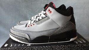 wholesale dealer 2fcea eef19 Image is loading 2011-Nike-Air-Jordan-3-Retro-Grey-Stealth-