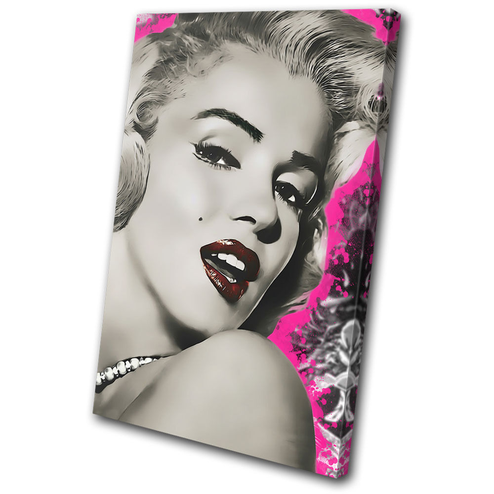 Iconic Celebrities rojo Marylin Monroe  SINGLE LONA pa rojo Celebrities  arte Foto impresion 871c00
