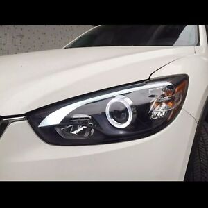 led projector drl xenon hid headlights for mazda cx 5 2013. Black Bedroom Furniture Sets. Home Design Ideas