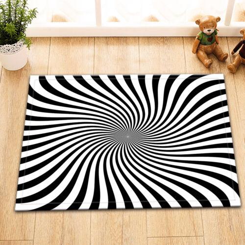 "Geometric Lines Whirlpool Bath Mat Bathroom Rug Non-Slip Decor Carpet 24x16/"""