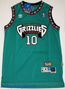 14bb2b884534 Image is loading Hardwood-Throwback-Jersey-MIKE-BIBBY-10-Vancouver-Grizzlies -