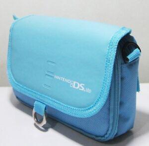 Stylish-Shoulder-Sling-Waist-Carrying-Pouch-Bag-For-Nintendo-DS-Lite-Blue