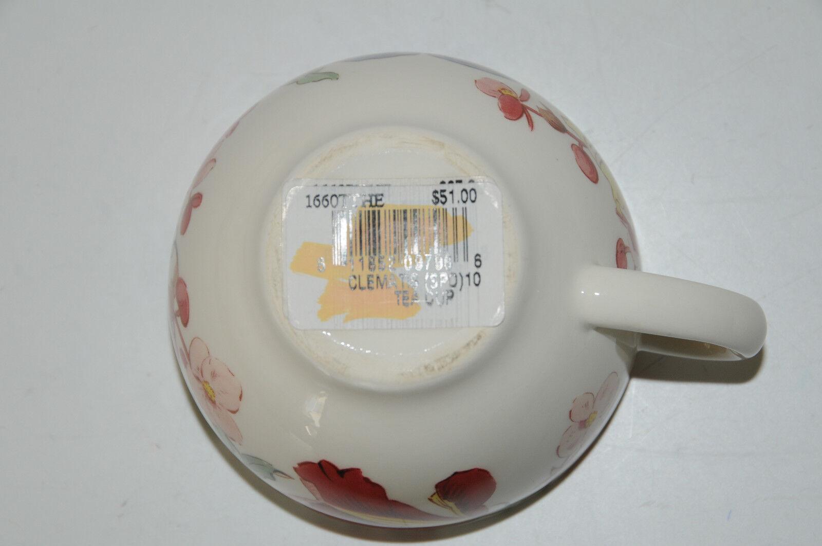 Neu Gien Frankreich Clematis Blaumen Teetasse Teetasse Teetasse S | Zürich Online Shop  90b319